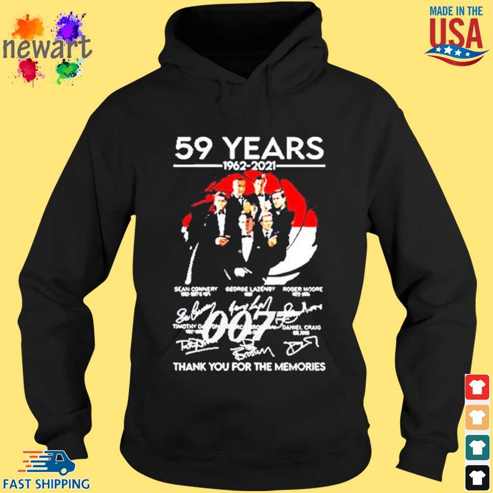 59 Years Of 007 1962 2021 Thank You For The Memories Signatures Shirt hoodie den