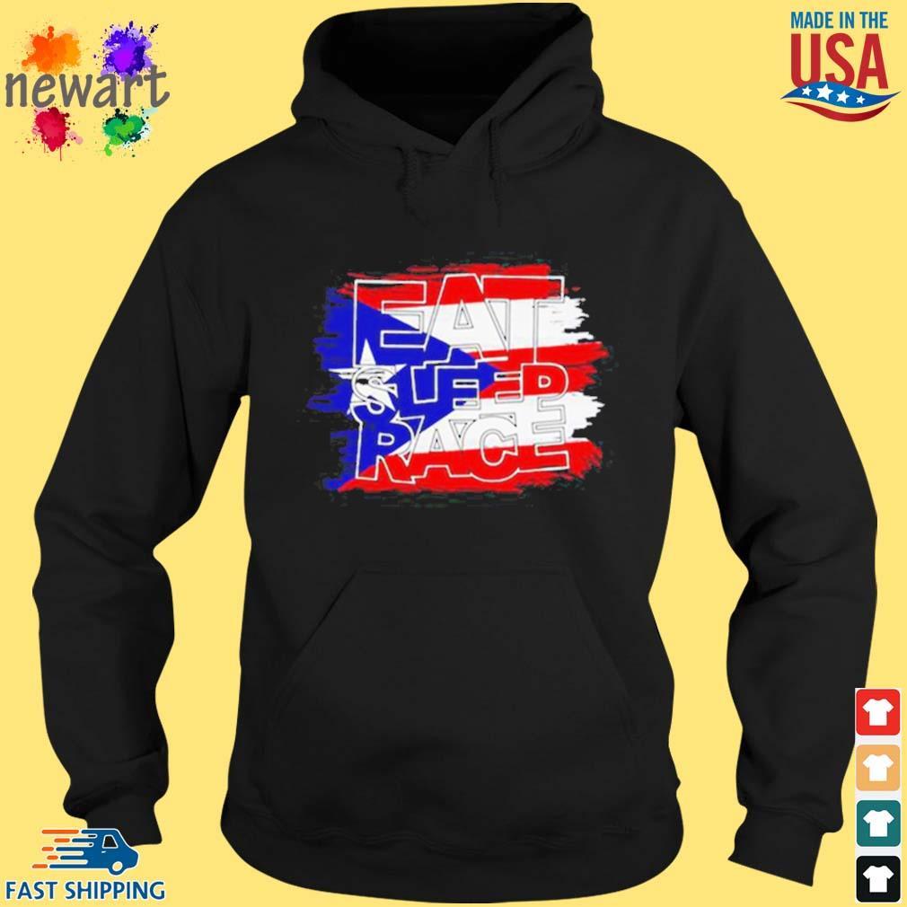 American Flag Eat Sleep Race Shirt hoodie den