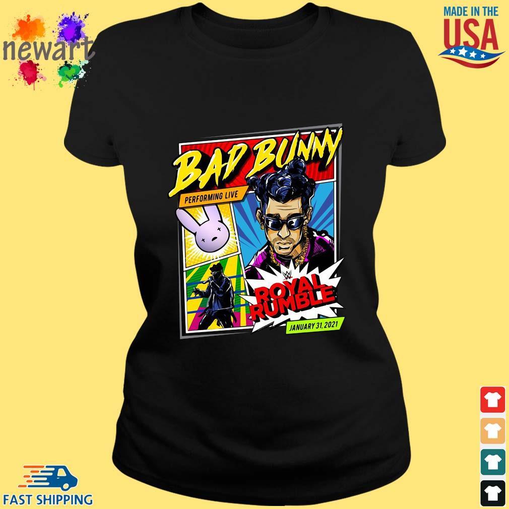 Bad Bunny X Royal Rumble 2021 Special Edition Shirt ladies den