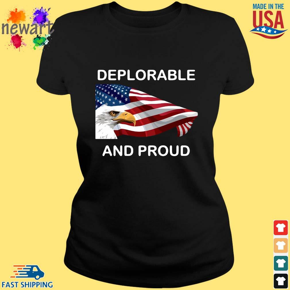 Eagles American flag deplorable and proud s ladies den