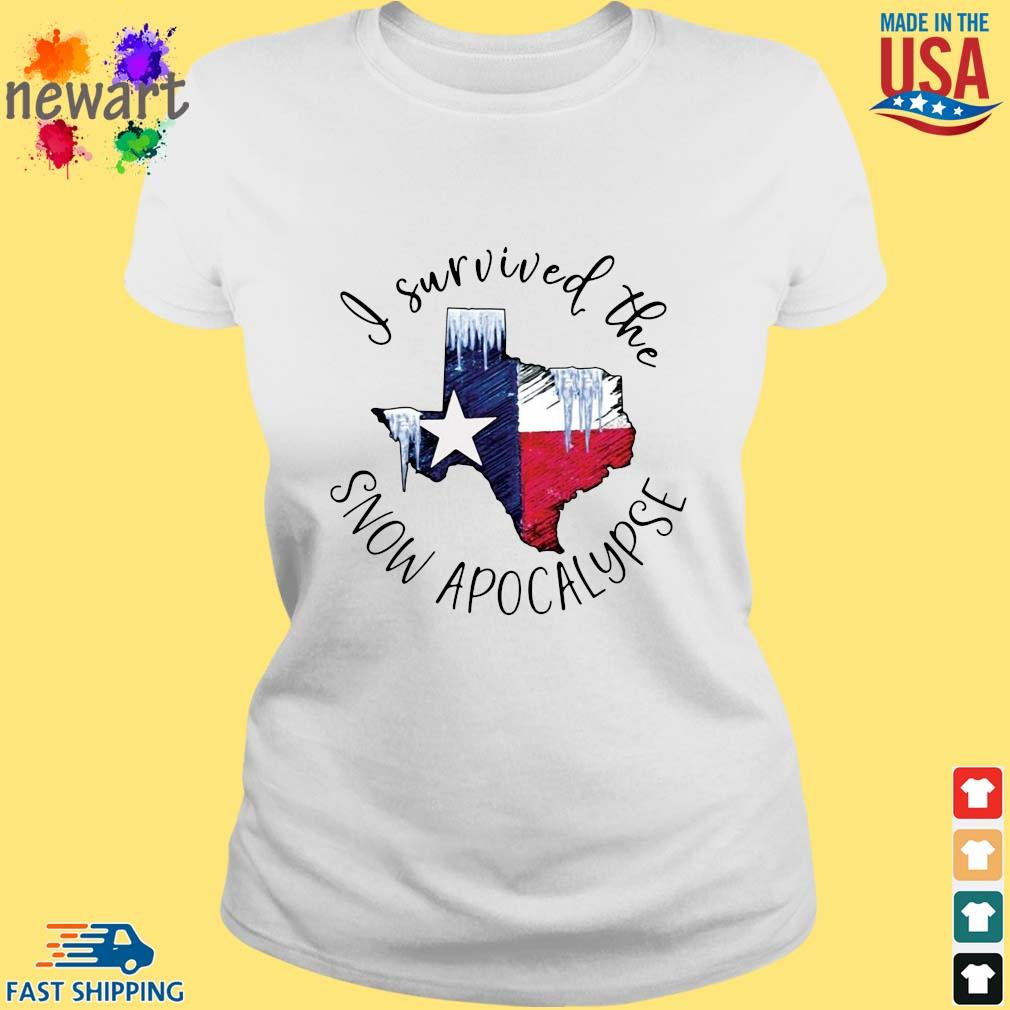 I survived the snow apocalypse Texas flag ladies trang