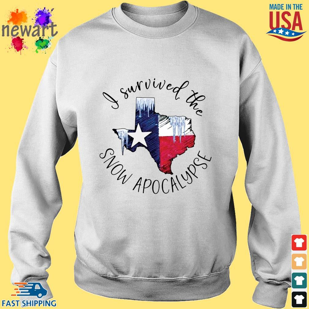 I survived the snow apocalypse Texas flag Sweater trang