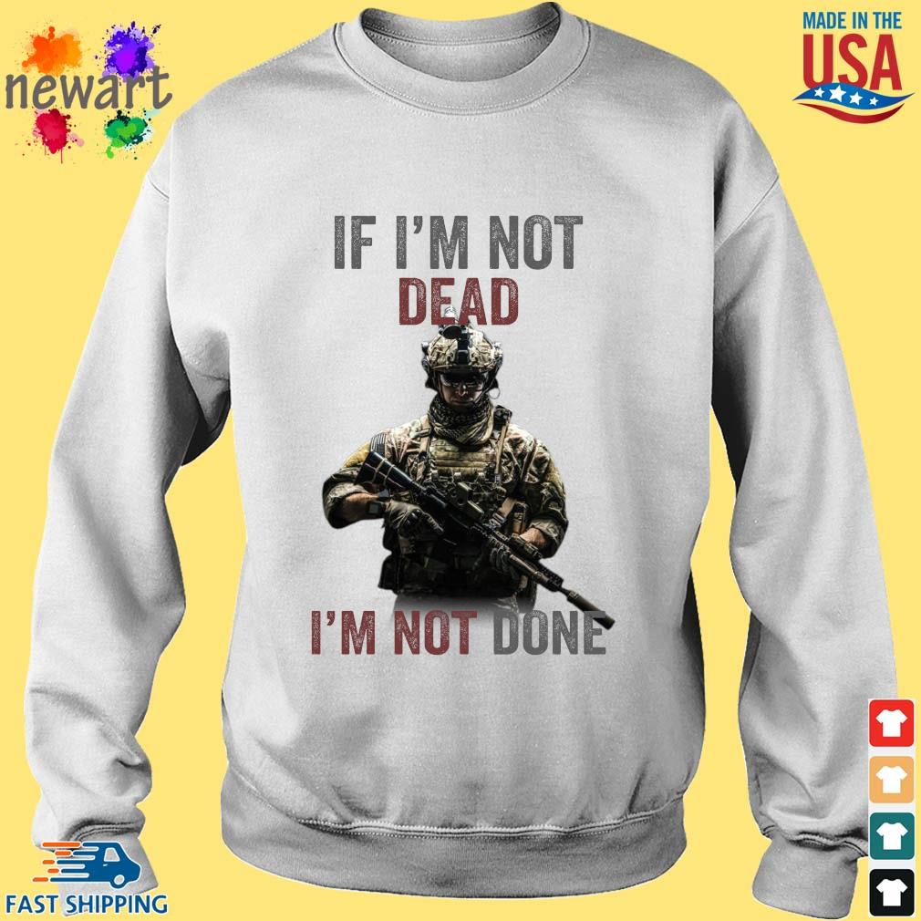If I'm not dead I'm not done Sweater trang