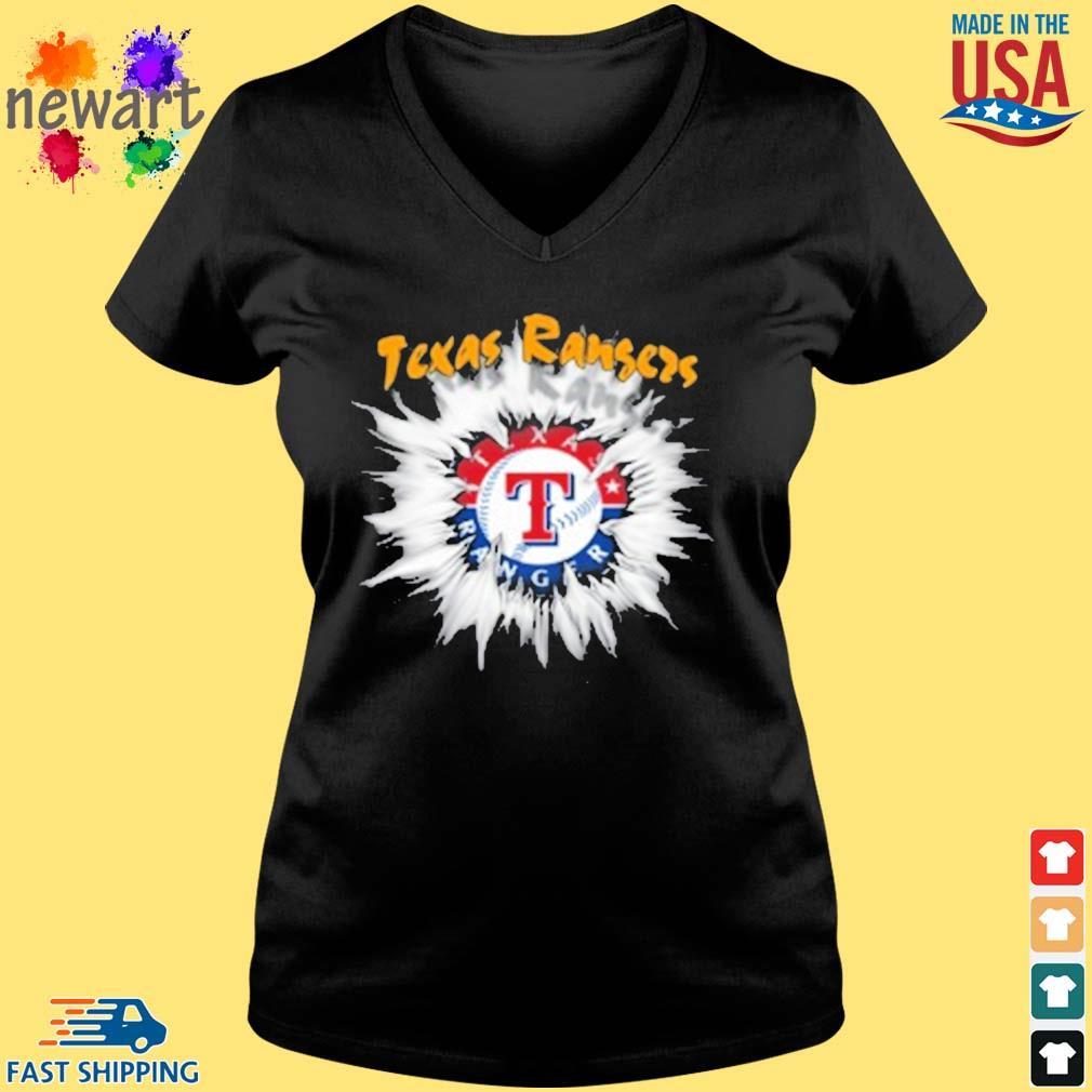 Texas Rangers MLB Baseball Adoring Fan Rip Sports s Vneck den