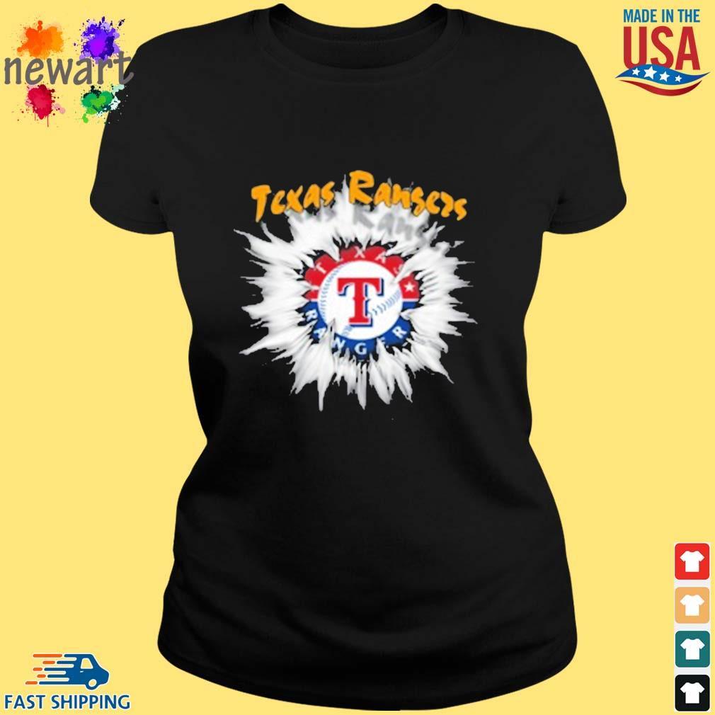 Texas Rangers MLB Baseball Adoring Fan Rip Sports s ladies den