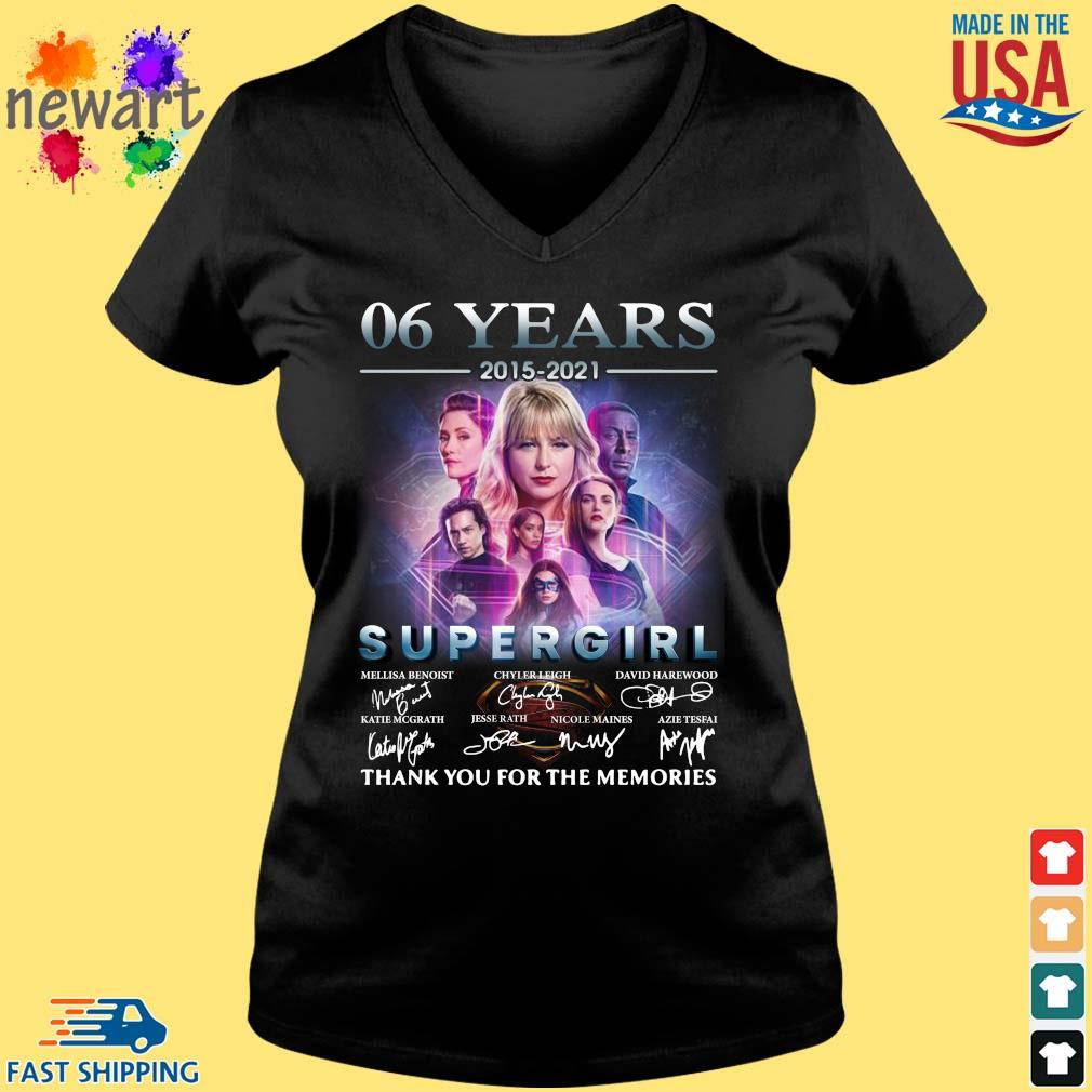 06 Years 2015 2021 Supergirl Thank You For The Memories Signatures Shirt Vneck den