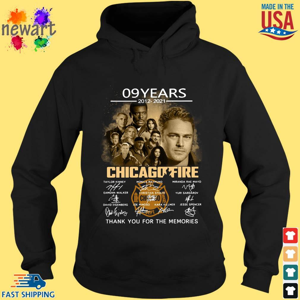 09 years 2012-2021 Chicago Fire thank you for the memories signatures hoodie den