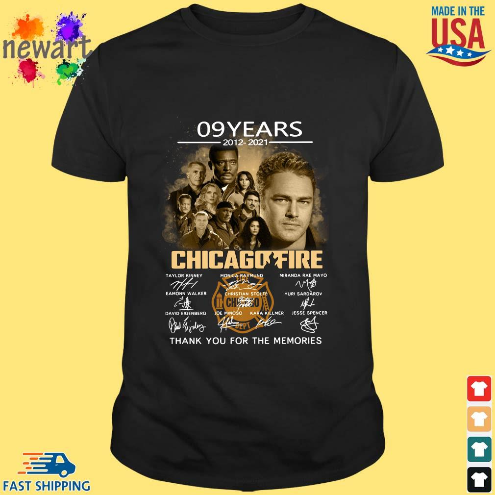 09 years 2012-2021 Chicago Fire thank you signatures shirt