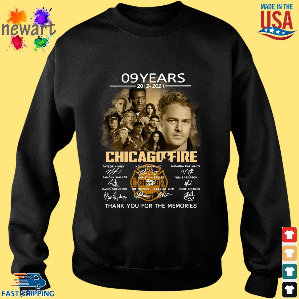 09 years 2012-2021 Chicago Fire thank you signatures Sweater den