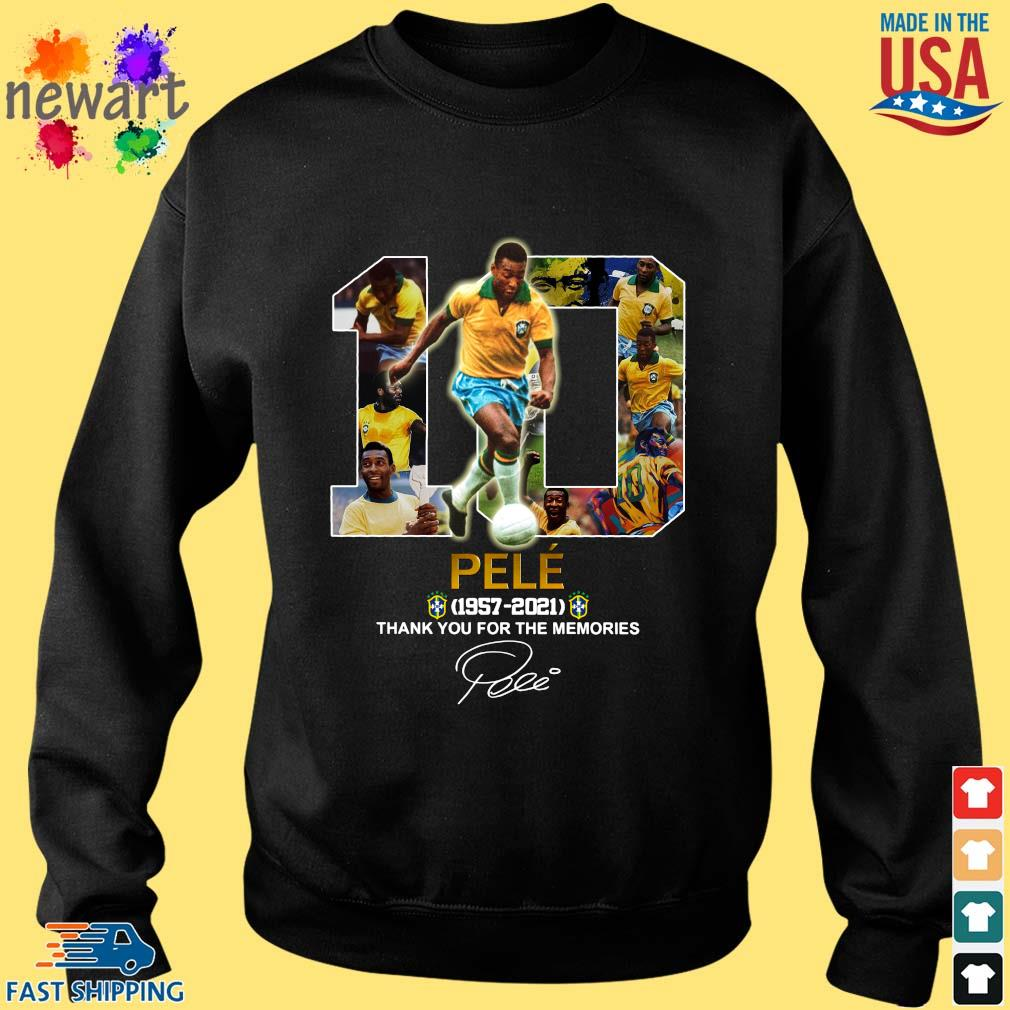 10 Pele 1957-2021 thank you for the memories signature Sweater den