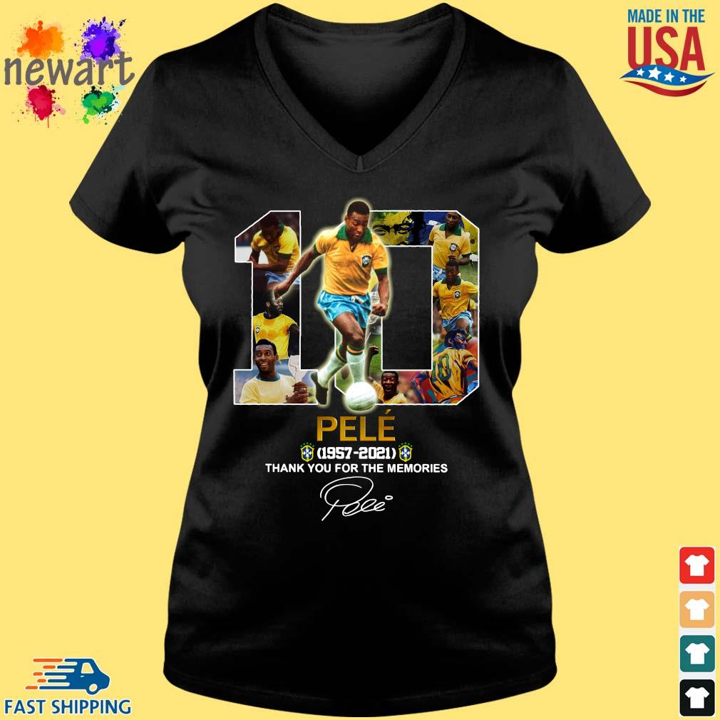 10 Pele 1957-2021 thank you for the memories signature Vneck den