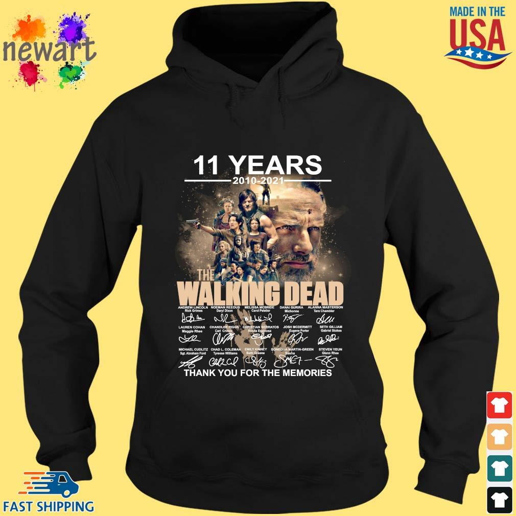 11 years 2010-2021 The Walking Dead thank you for the memories signatures hoodie den
