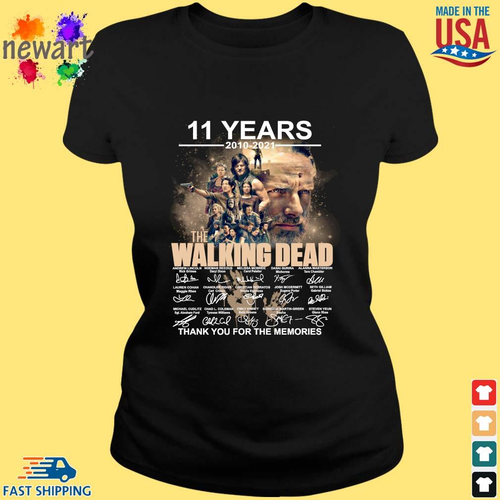 11 years 2010-2021 The Walking Dead thank you for the memories signatures ladies den