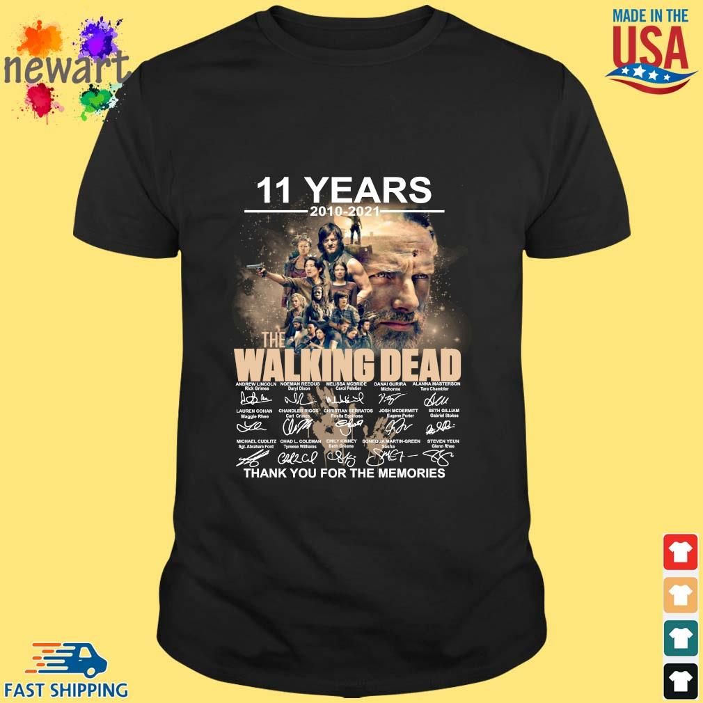 11 years 2010-2021 The Walking Dead thank you for the memories signatures shirt