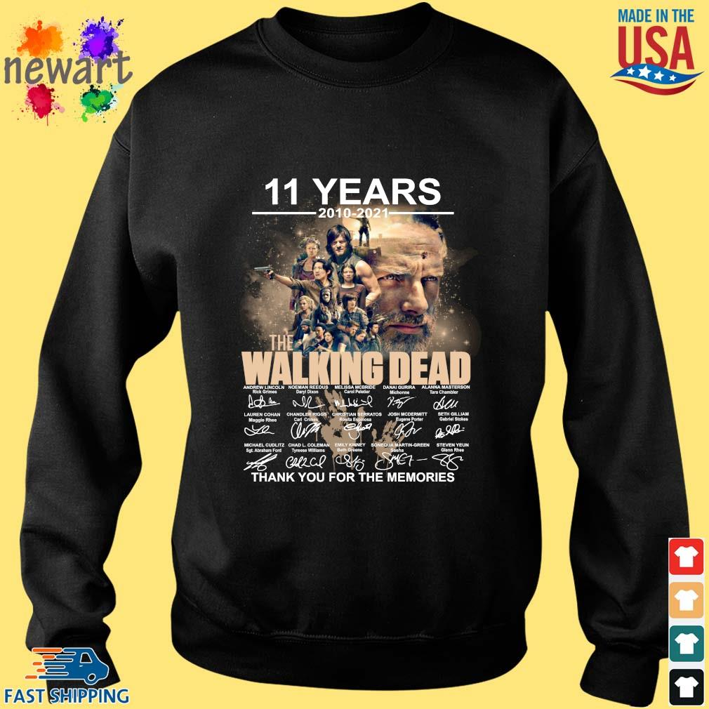 11 years 2010-2021 The Walking Dead thank you for the memories signatures Sweater den