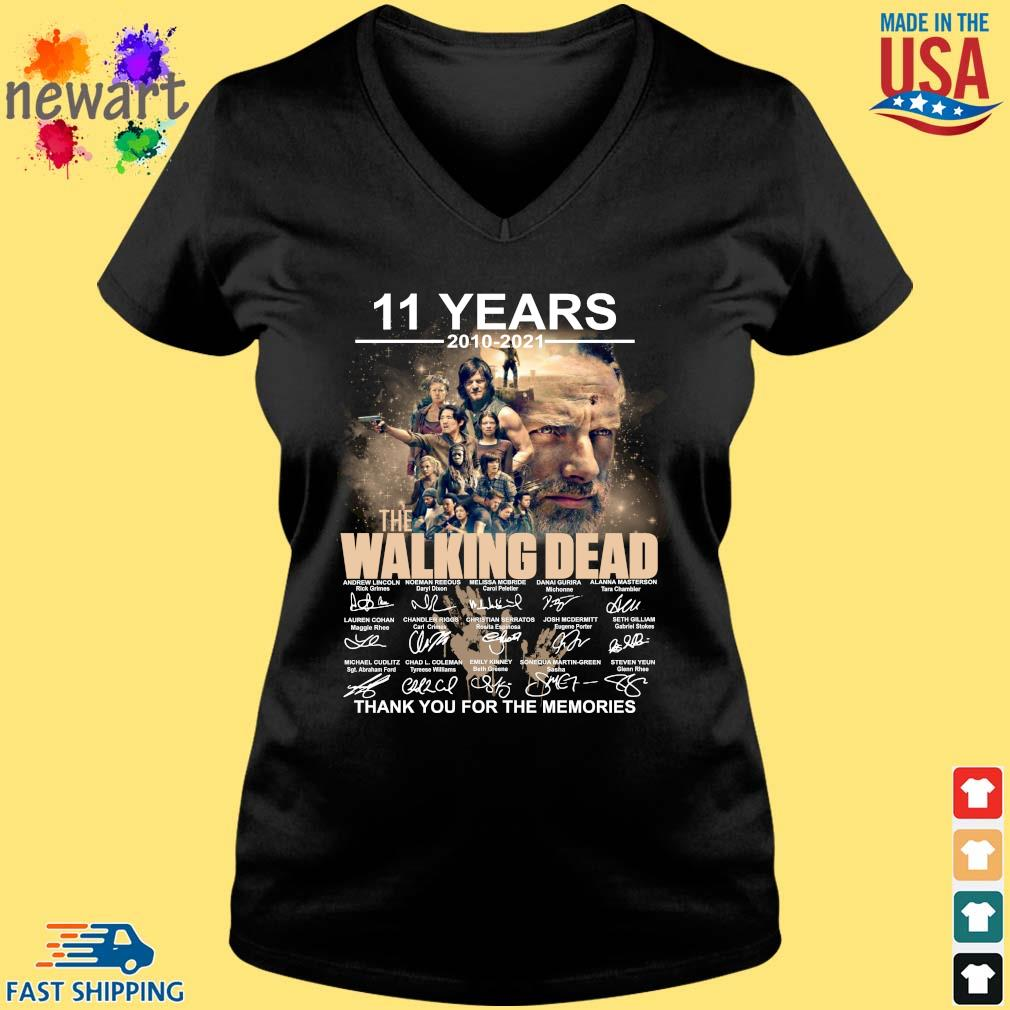 11 years 2010-2021 The Walking Dead thank you for the memories signatures Vneck den