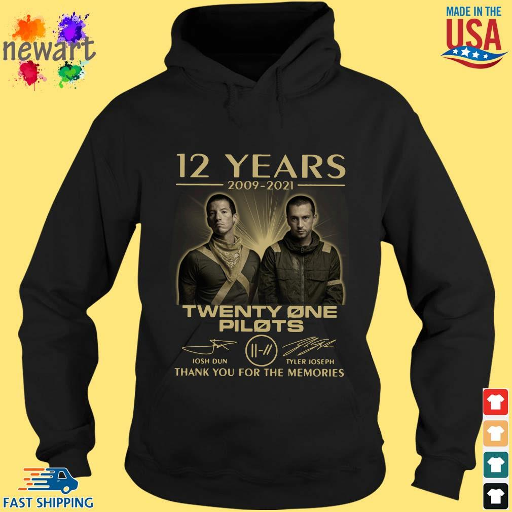12 Years 2009-2021 Twenty One Pilots Thank You For The Memories Signatures Shirt hoodie den