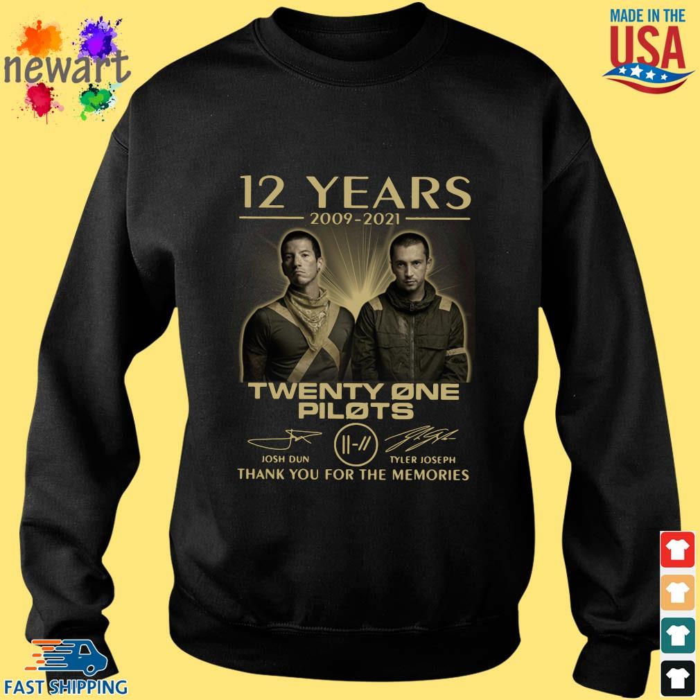 12 Years 2009-2021 Twenty One Pilots Thank You For The Memories Signatures Shirt Sweater den