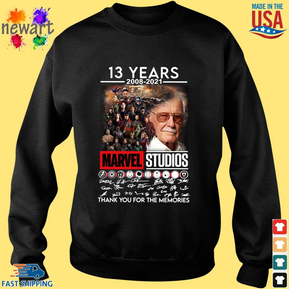13 years 2008-2021 Marvel Studios thank you for the memories signatures Sweater den
