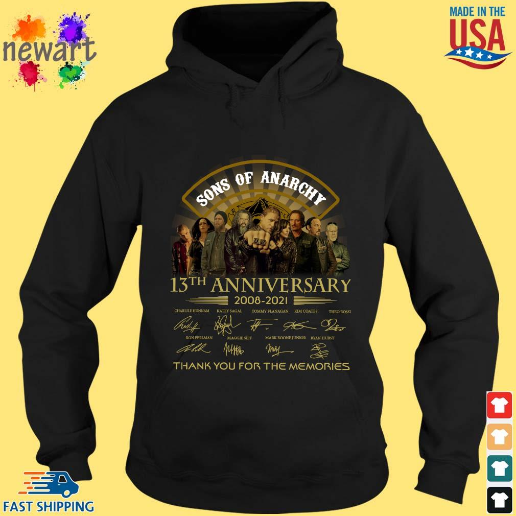 13th Anniversary 2008-2021 Sons Of Anarchy Thank You For The Memories Signatures Shirt hoodie den