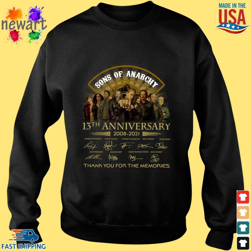 13th Anniversary 2008-2021 Sons Of Anarchy Thank You For The Memories Signatures Shirt Sweater den