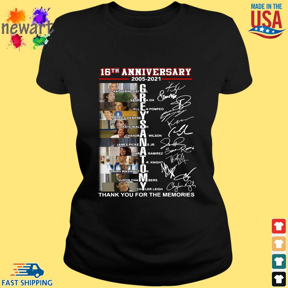 16th anniversary 2005-2021 Grey's Anatomy thank you for the memories signatures ladies den