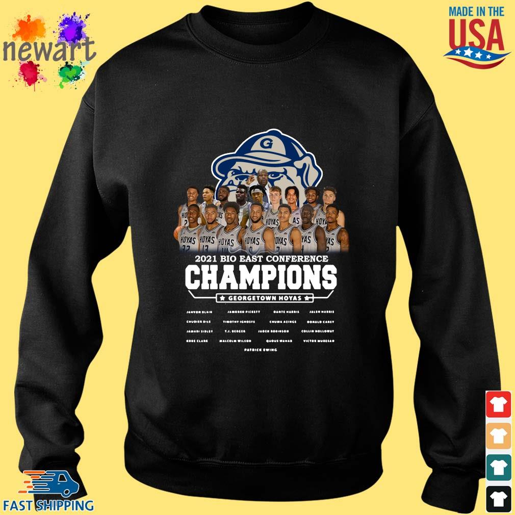 2021 Bio East Conference Champions Georgetown Hoyas Shirt Sweater den