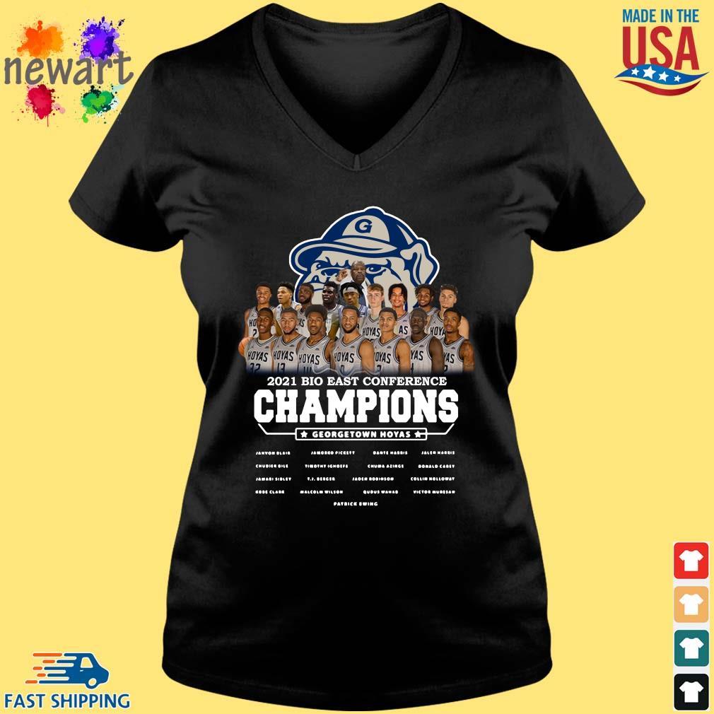 2021 Bio East Conference Champions Georgetown Hoyas Shirt Vneck den