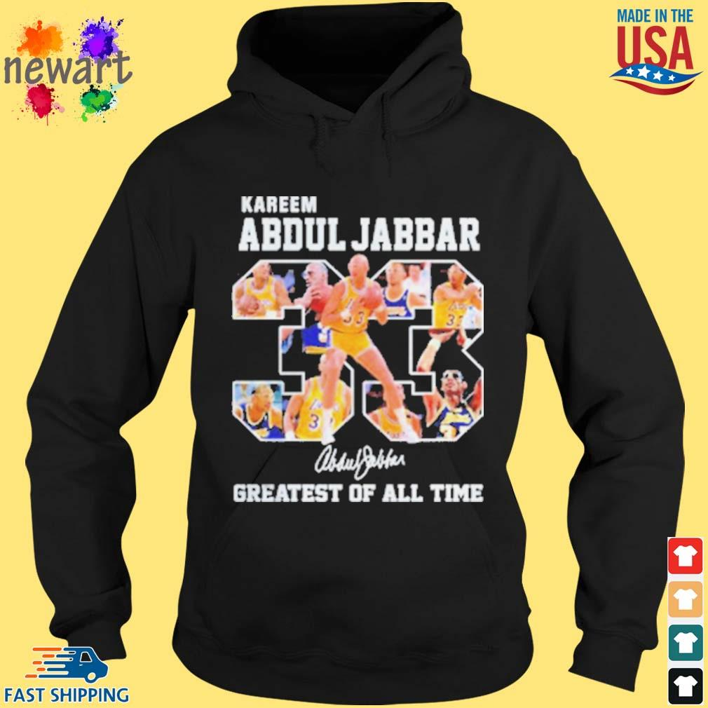 33 Kareem Abdul Jabbar Signature Greatest Of All Time Shirt hoodie den