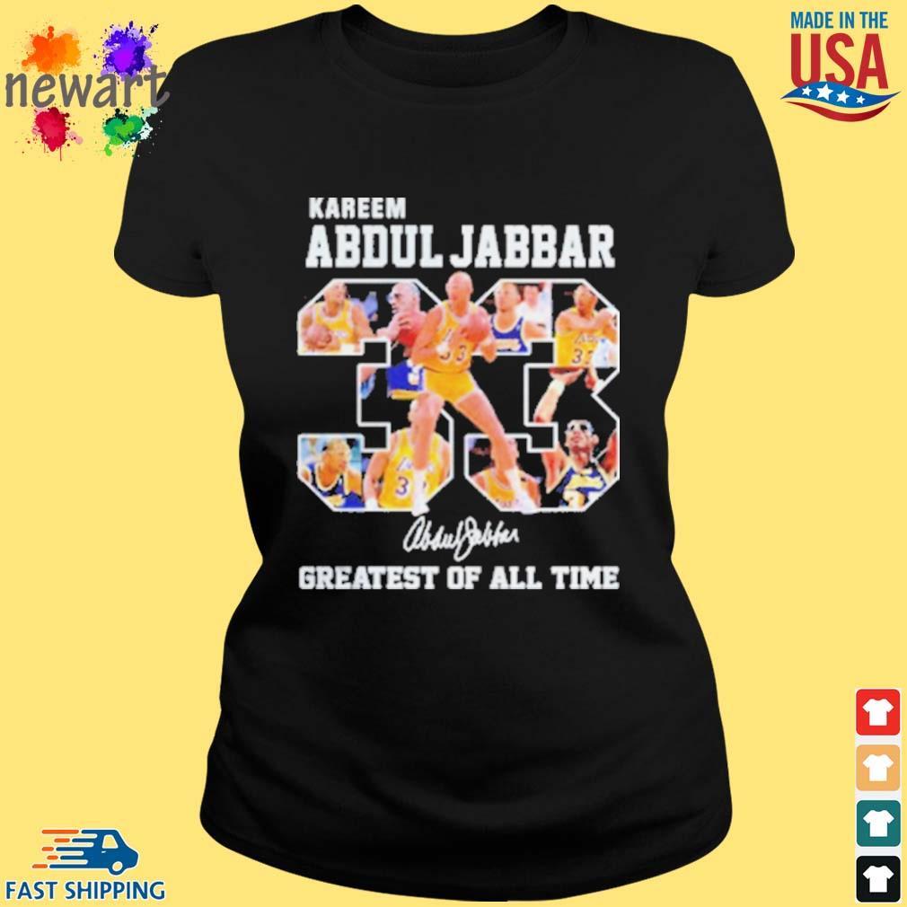 33 Kareem Abdul Jabbar Signature Greatest Of All Time Shirt ladies den