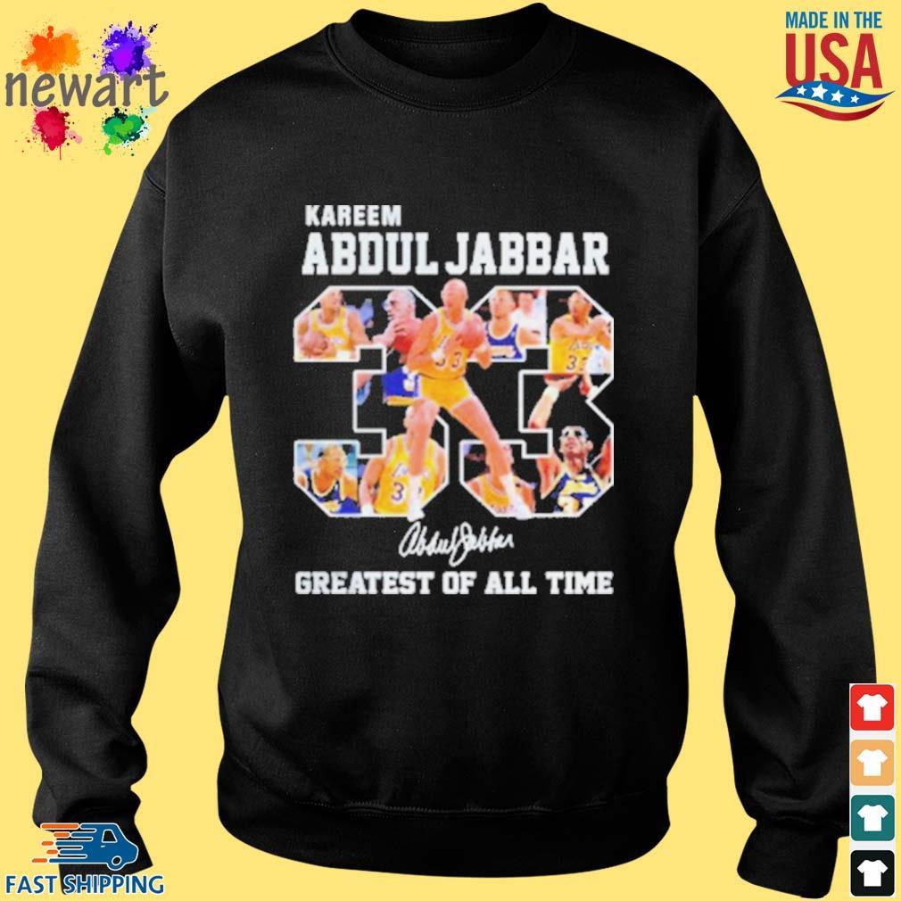 33 Kareem Abdul Jabbar Signature Greatest Of All Time Shirt Sweater den