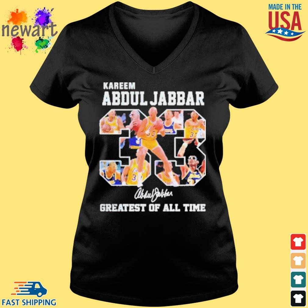 33 Kareem Abdul Jabbar Signature Greatest Of All Time Shirt Vneck den