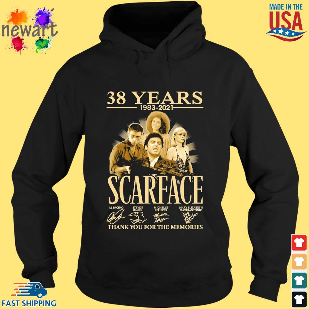 38 Years 1983 2021 Scarface Thank You For The Memories Signatures Shirt hoodie den