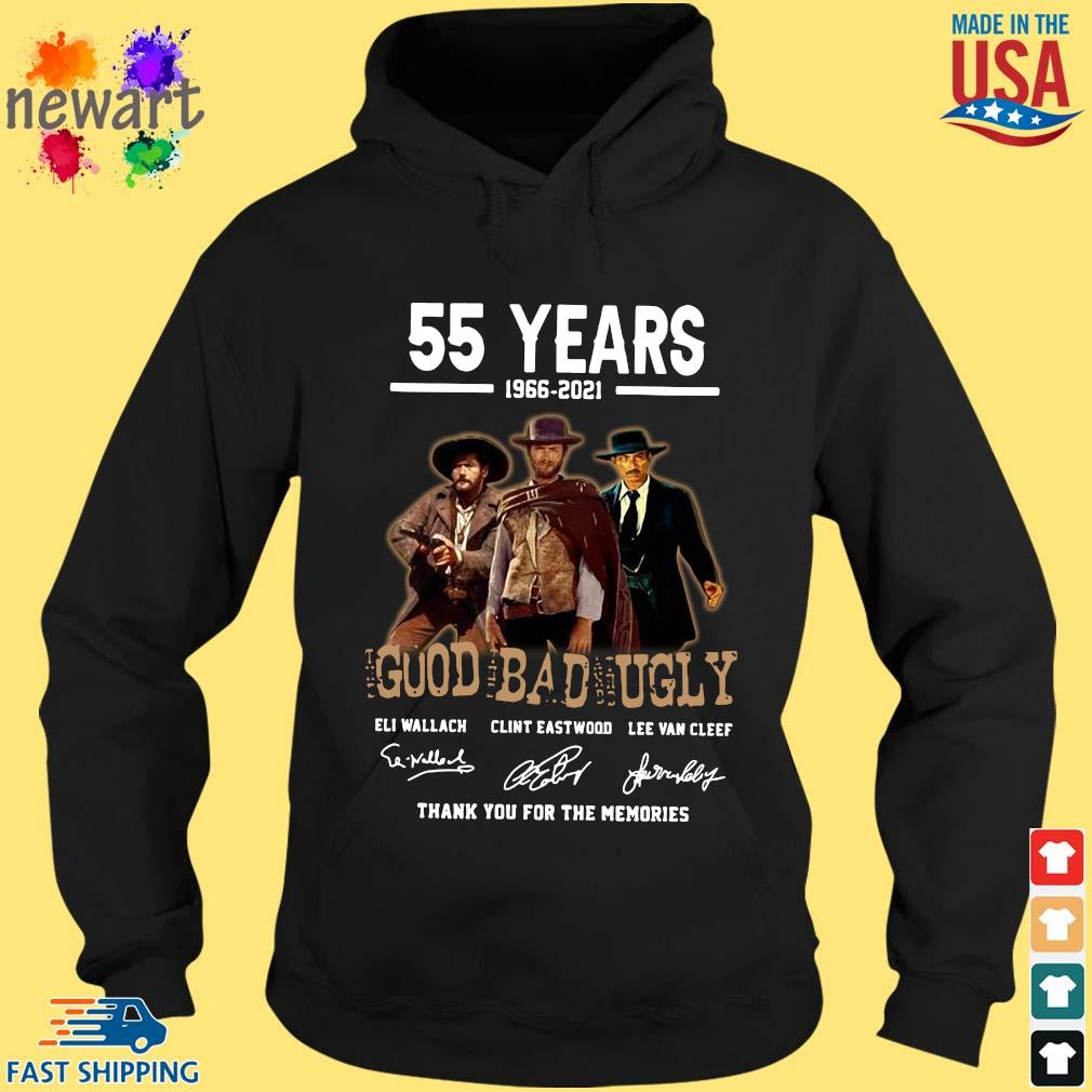 55 year of 1966 2021 177 min The Good The Bad and The Ugly thank You for the memories signatures hoodie den