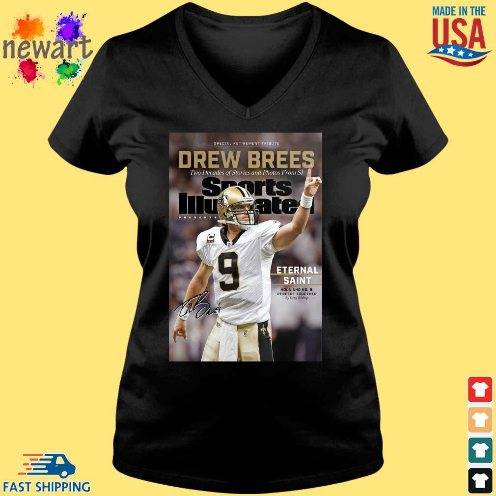9 Drew Brees New Orleans Saints Signature Two Decades Of Stories And Photos From SI ShirtS Vneck den