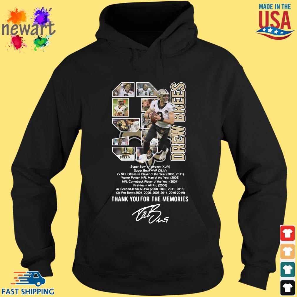 9 Drew Brees Thank You For The Memories Signature Shirt hoodie den