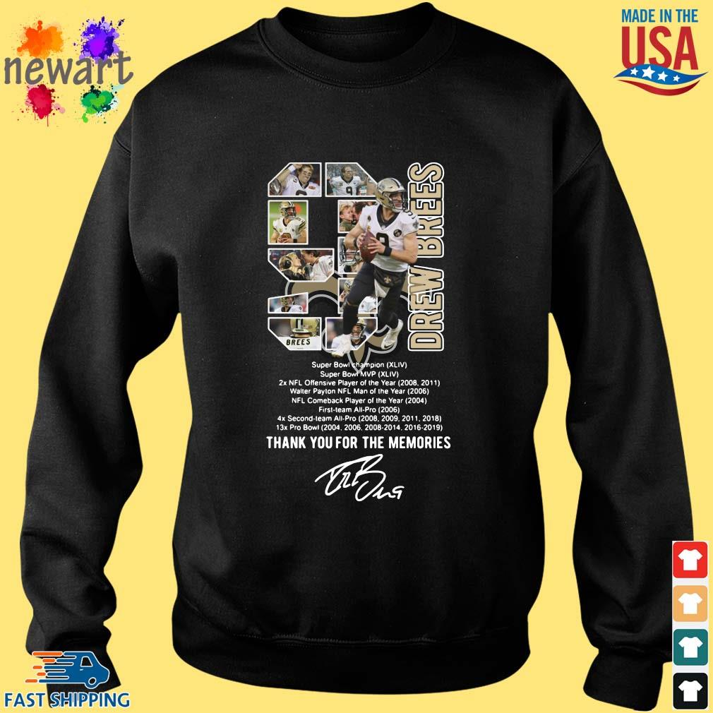 9 Drew Brees Thank You For The Memories Signature Shirt Sweater den