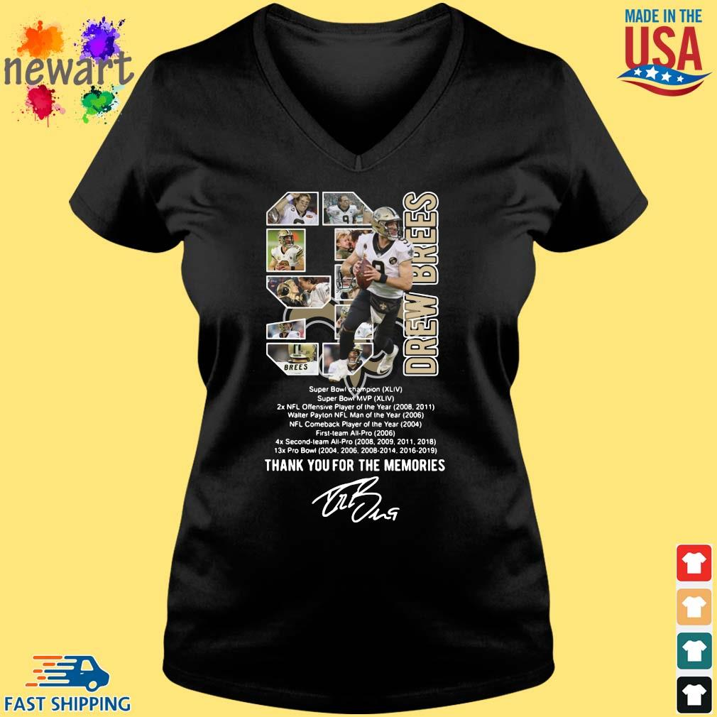 9 Drew Brees Thank You For The Memories Signature Shirt Vneck den