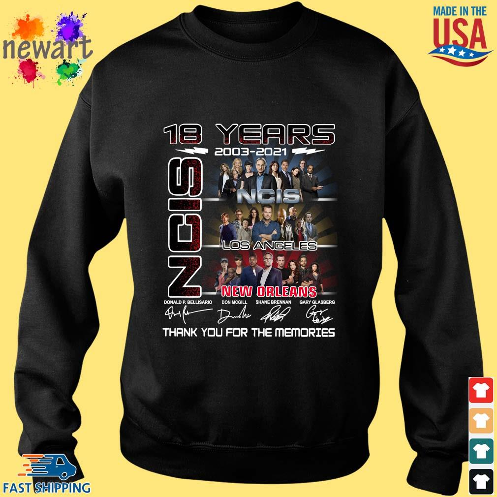18 Years 2003 2021 Ncis Los Angeles New Orleans Thank You For The Memories Signatures Shirt Sweater den