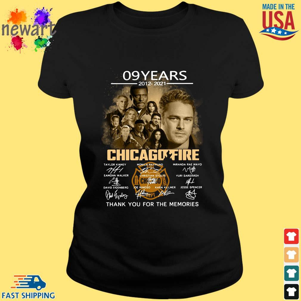 09 Years 2012 2021 Chicagofire Thank You For Memories Signatures Shirt ladies den