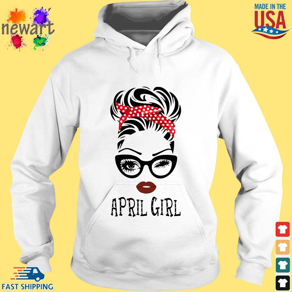 April Girl Face Wink Eye Shirt hoodie trang