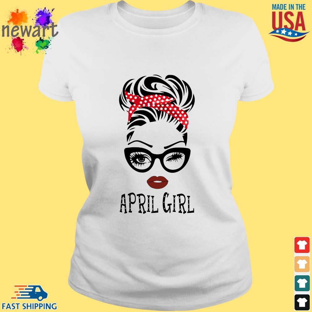 April Girl Face Wink Eye Shirt ladies trang