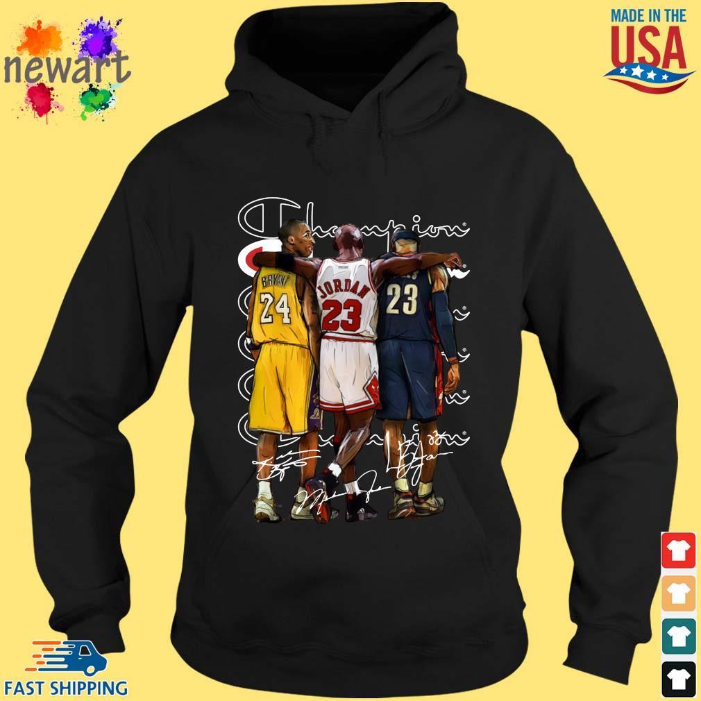 Champion Kobe Bryant Jordan Lebron James Signatures Shirt hoodie den