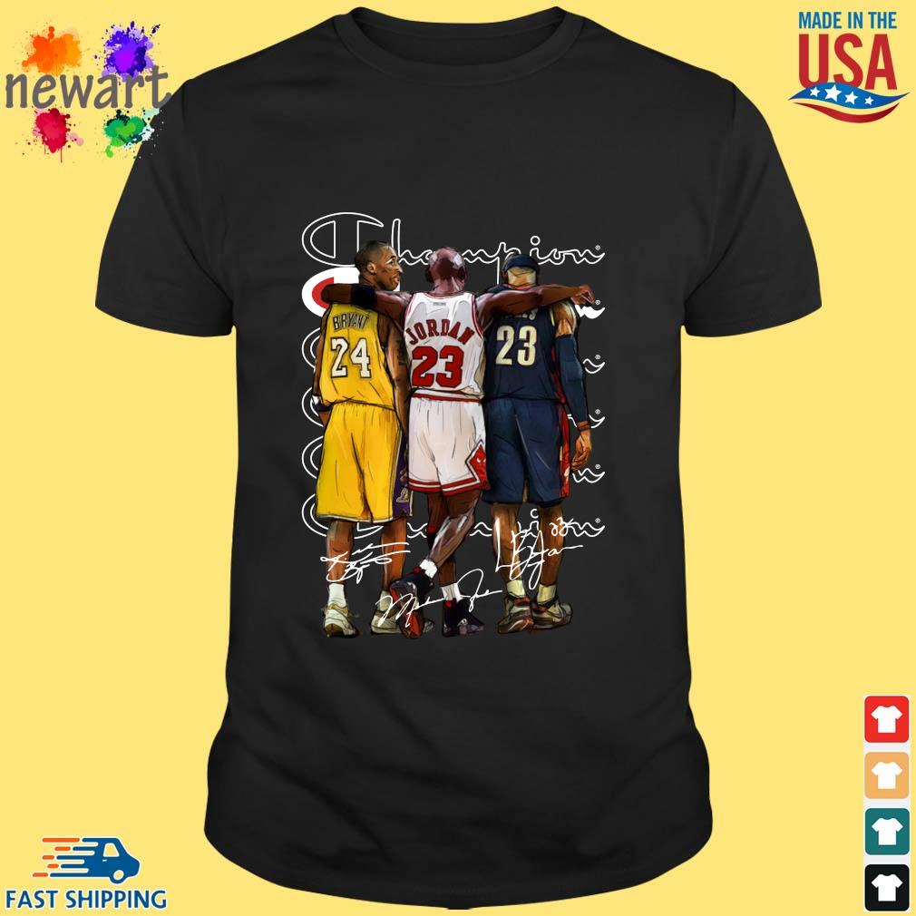 Champion Kobe Bryant Jordan Lebron James Signatures Shirt