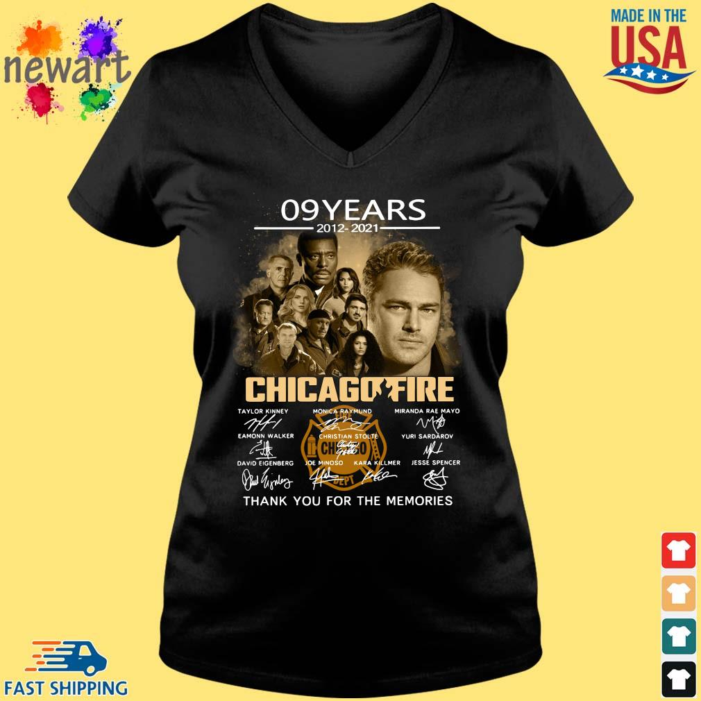 09 Years 2012 2021 Chicagofire Thank You For Memories Signatures Shirt Vneck den