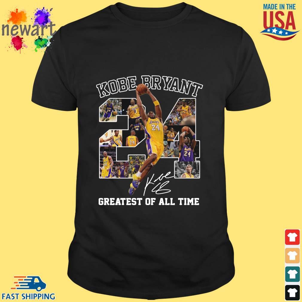Kobe Bryant 24 signature greatest of all time shirt