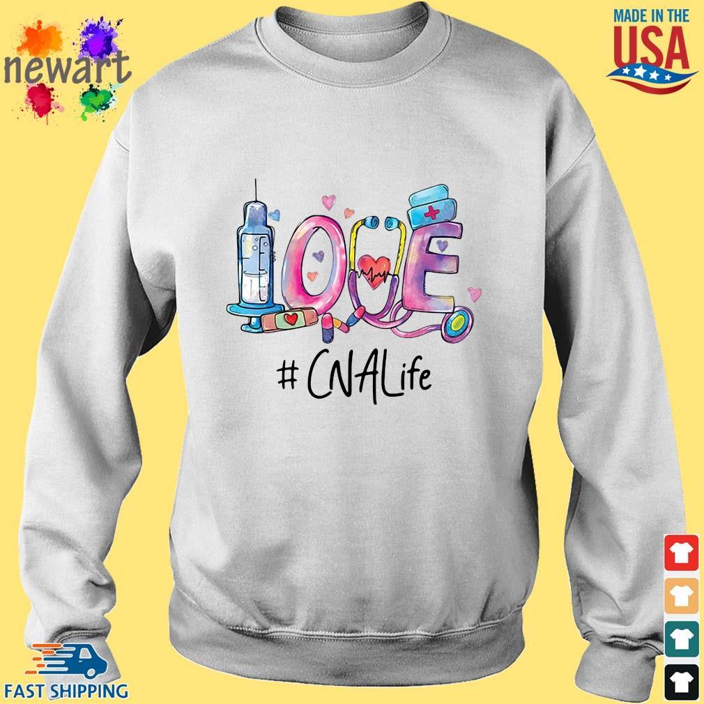 Love #CNALife Nurse Shirt Sweater trang