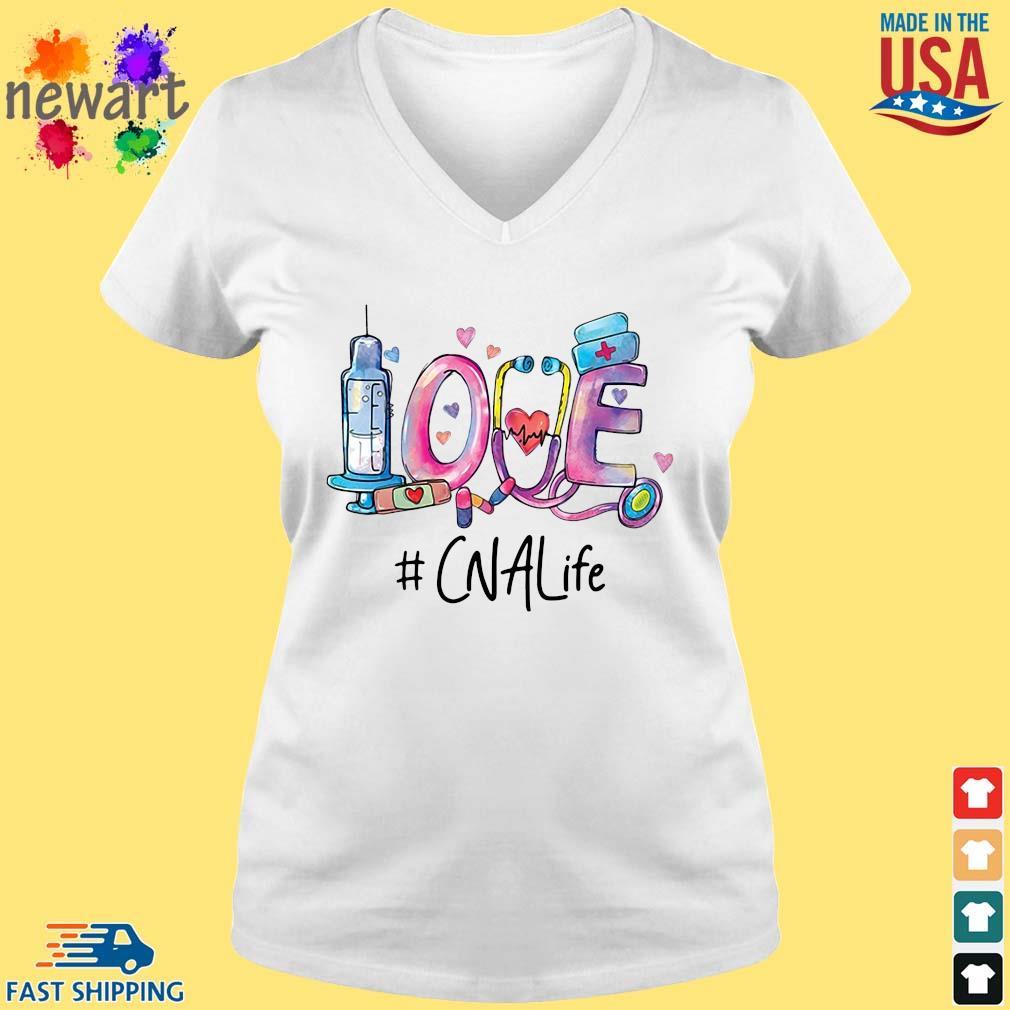 Love #CNALife Nurse Shirt vneck trang