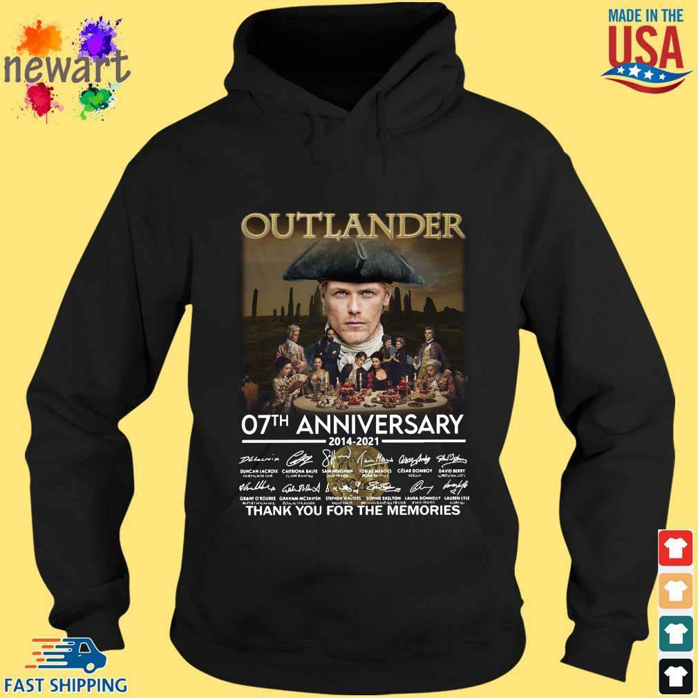 Outlander 07th anniversary 2014-2021 thank you for the memories signatures hoodie den