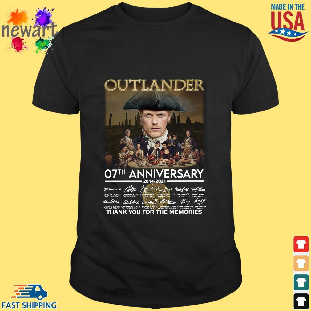 Outlander 07th anniversary 2014-2021 thank you for the memories signatures shirt